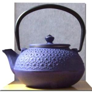 Cast Iron Purple Tetsubin teapot kettle 0.6 litre