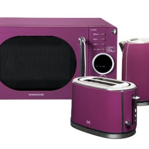 Daewoo KOR6N9RP Purple Touch Control Microwave