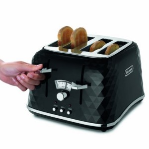 De'Longhi Brillante Faceted Black 4-Slice Toaster