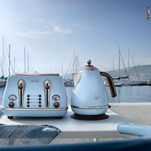 Delonghi Vintage Icona Duck Egg Blue 4 Slice Toaster