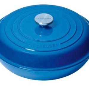 Le Creuset Cast Iron Shallow Casserole 30 cm Marseille Blue