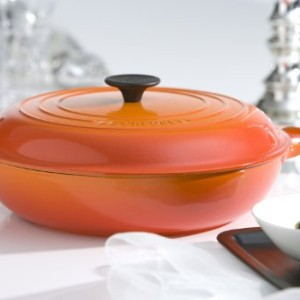 Le Creuset Cast Iron Shallow Casserole 30 cm Volcanic Orange