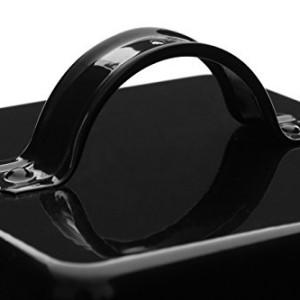 Premier-Housewares-5-Piece-Enamel-Storage-Set-Black-White-0-0