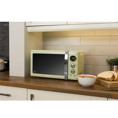 Swan Retro Mint Green Digital Microwave Oven 800 Watt