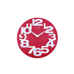 BestOfferBuy 3D Cut Out Number Red Wall Clock