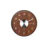 DecoMates Non-Ticking Silent Brown Wall Clock