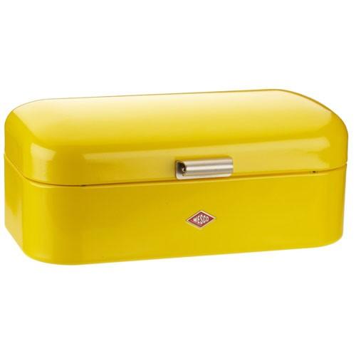 bright kitchen accessories wesco grandy bread bin lemon yellow