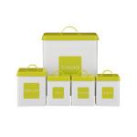 Lime Green Enamel Kitchen Storage Set