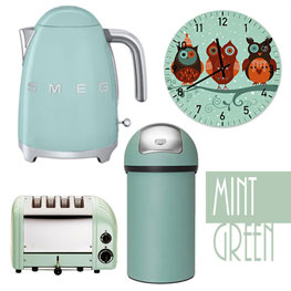 Superior Mint Green Kitchen Accessories