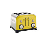 Morphy Richards Yellow 4-Slice Accents Toaster