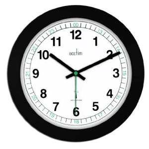 Acctim Milan Radio Controlled Wall Clock Black & White