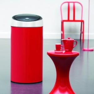 Brabantia Touch Bin Deluxe, 45 Litre - Lipstick Red