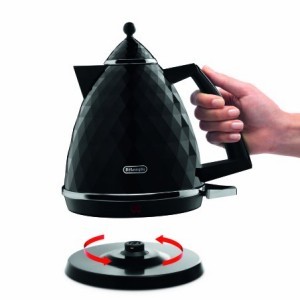 De'Longhi Brillante Faceted Jug Kettle - Black