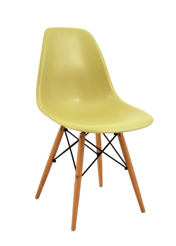 Bentley Home Retro Eames Style 'Eiffel' DSW Olive Green Chair