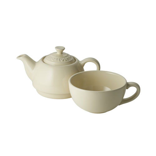 Le Creuset Stoneware Tea for One Set - Almond Cream