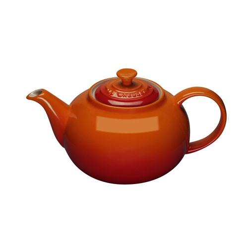 Le Creuset 1.3 L Stoneware Classic Teapot - Volcanic Orange