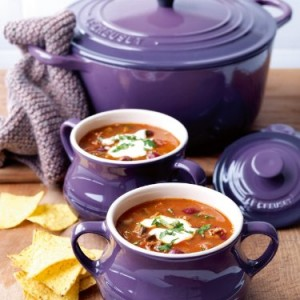 Le Creuset Stoneware Set of 2 Soup Bowls 0.5 L Cassis Purple