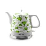 LuguLake Ceramic Teapot & Electric Kettle - Green