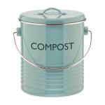 Typhoon Vintage Enamel Duck Egg Blue Compost Caddy