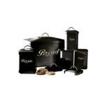 Cooks Professional 5 Piece Rectangular Black Kitchen Storage