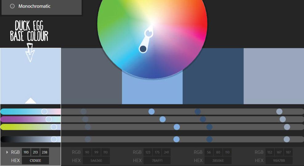 Duck Egg Blue Monochromatic Colour Scheme