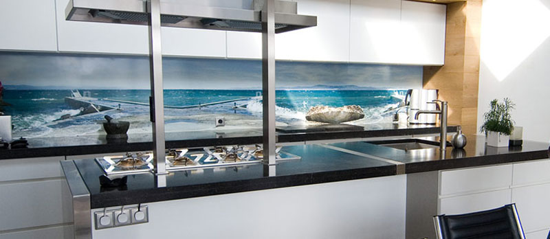 Seascape Kitchen Splashback Idea