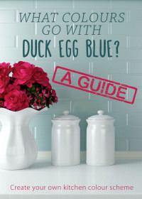 What colours go with duck egg blue?