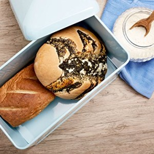 Andrew James Vintage Style Bread Bin In Duck Egg Blue