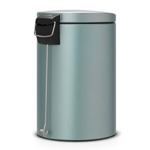 Brabantia-20-Litre-Pedal-Bin-Silent-Plastic-Inner-Bucket-Metallic-Mint-0-1