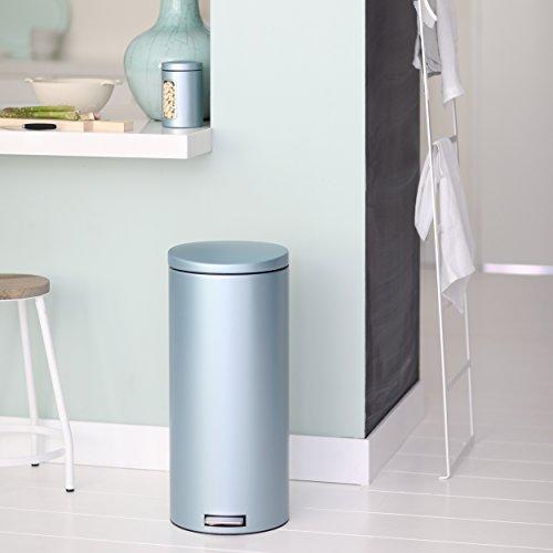 Brabantia-30-Litre-Pedal-Bin-Silent-Plastic-Inner-Bucket-Metallic-Mint-0-1