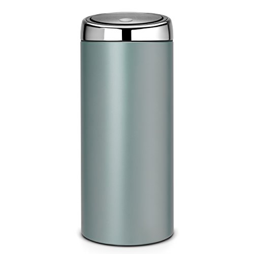 brabantia 30 litre touch bin metallic mint green. Black Bedroom Furniture Sets. Home Design Ideas