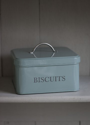 Garden-Trading-1-Piece-Powder-Coated-Steel-Garden-Trading-Square-Biscuit-Tin-in-Shutter-Blue-0-1