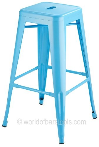 Costantino High Cafe Style Bar Stool Duck Egg Blue