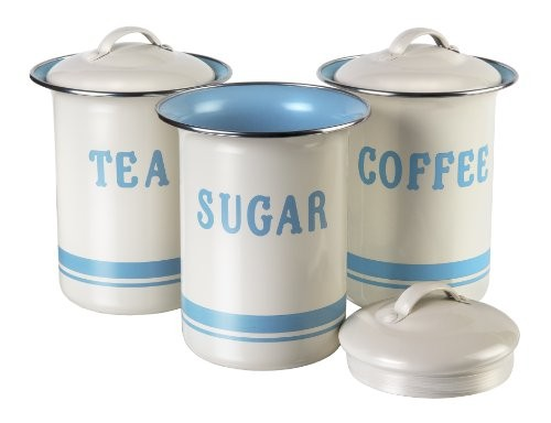 Jamie Oliver Coffee, Tea & Sugar Set Duck Egg & Cream