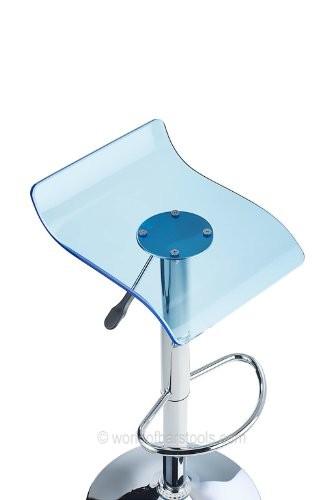 Costantino Laser Acrylic Bar Stool Blue