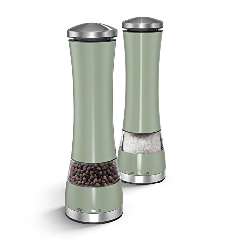 Morphy Richards Electronic Salt and Pepper Mill Sage Green