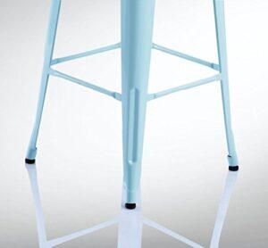 Duhome stackable iron bar stool chair duck egg blue