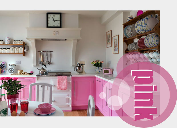Pink Kitchen Accessories - Hot Pink, Pastel Pink, Baby Pink.