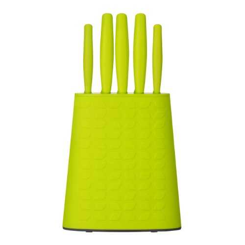 Premier Housewares 5 Piece Knife Set Lime Green