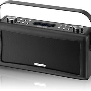 View Quest Hepburn Bluetooth System with DAB+ Radio Black