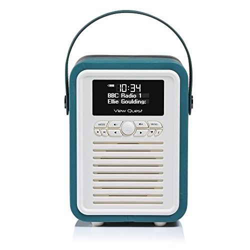 View Quest Retro Mini DAB+ Radio & Bluetooth Speaker Teal