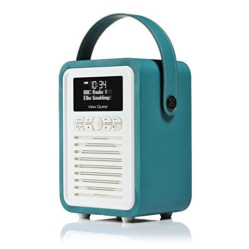 View Quest Retro Mini DAB+ Radio & Bluetooth Speaker Teal
