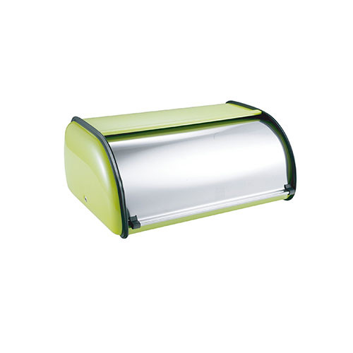 Brandani 55077 Enamel Retro Bread Box in Green