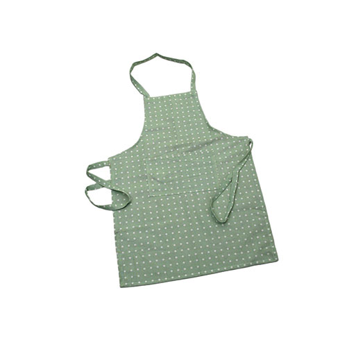 Mint Green Classic Spot Cotton Apron