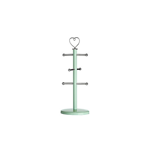 Premier Housewares 6 Cup Sweet Heart Mug Tree Mint Green