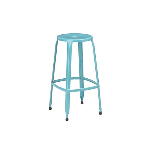 Premier Housewares Kitchen Bar Stool Set of 2 Duck Egg Blue