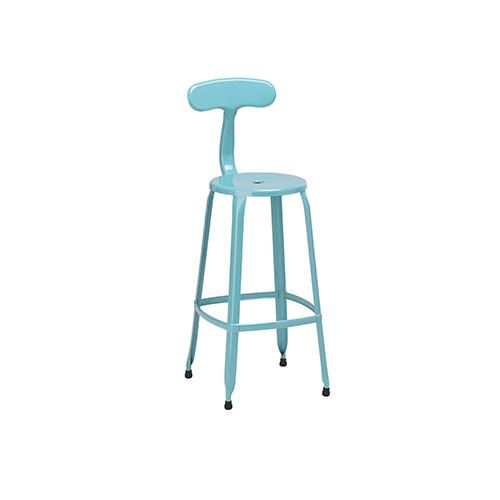 Premier Housewares Kitchen Bar Stool Set of 4 Duck Egg Blue