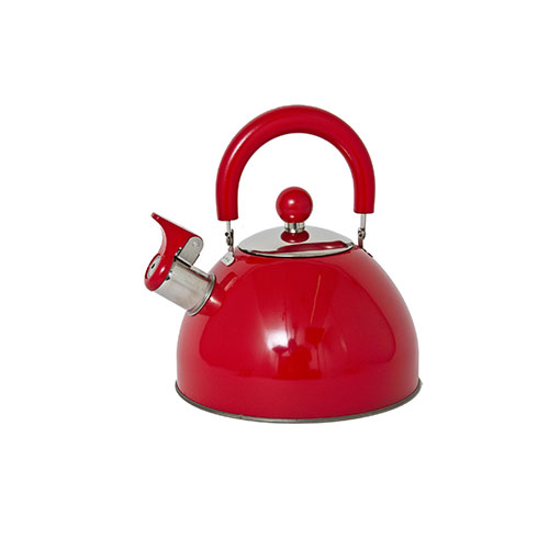 Panorama Retro Whistling Kettle Red