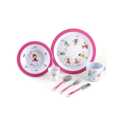 7 Piece Children's Melamine Gift Set -Ballet Surprise