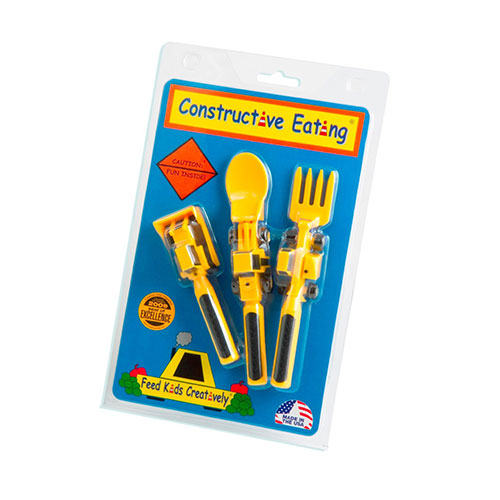 Constructive Eating Utensils Set